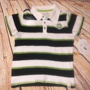 Burts bees kids polo top toddler 4T NWT